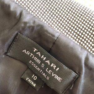 Tahari Dresses - Tahari Black and White Belted Cowl Dress Size 10